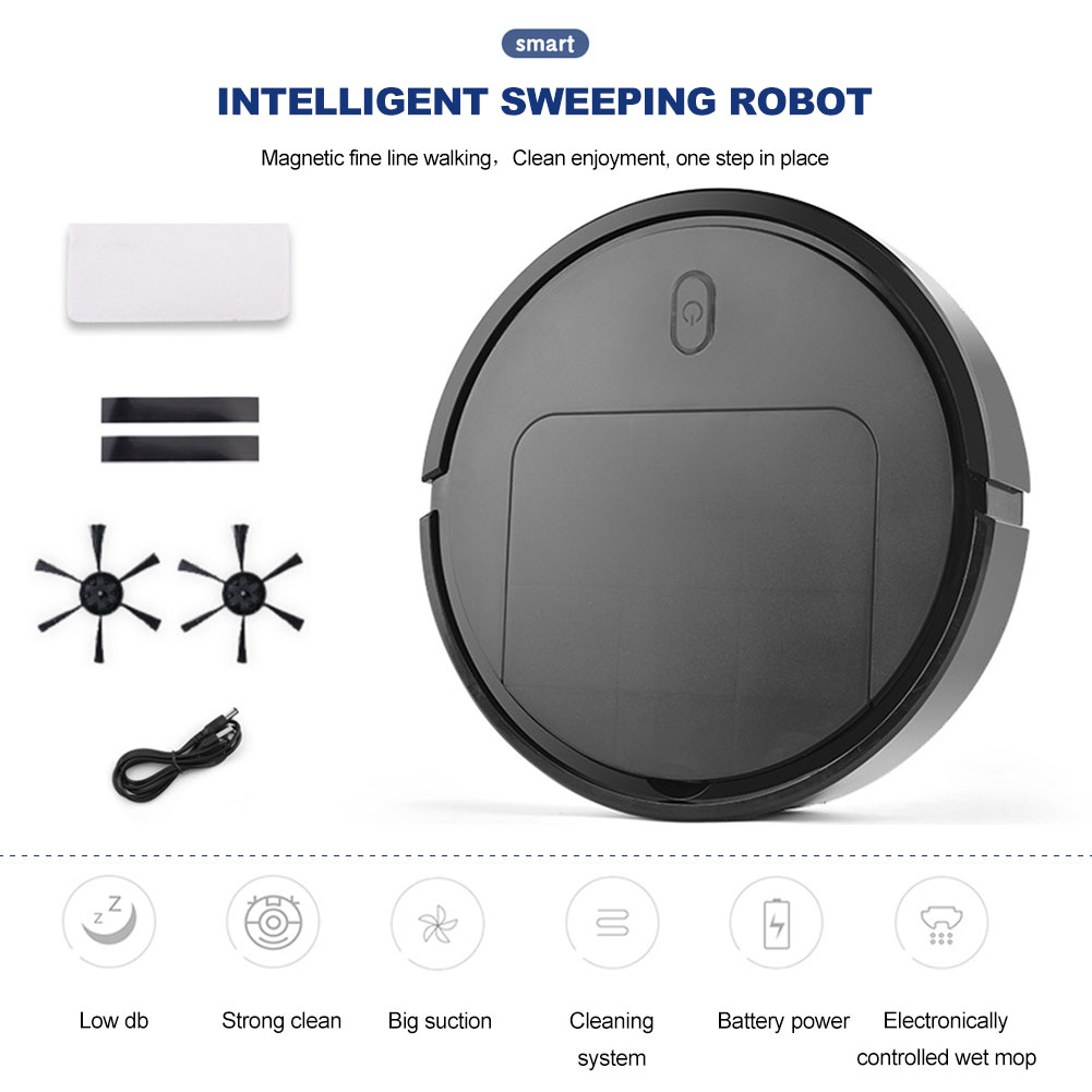 IS25 Sweeping Robot Three-In-One Vacuum Cleaner Sweeper Mopping Machine Household Cleaning Tool USB Charging Household Items