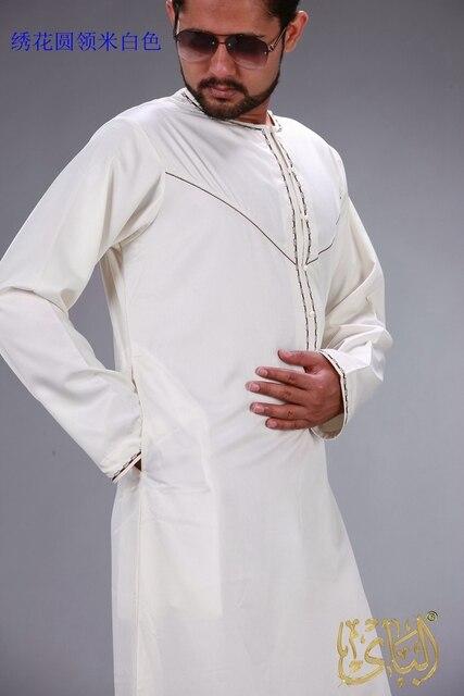 الملابس الإسلامية الرجال رداء طويل الأكمام العربية قفطان الإسلام فستان عربي الرجال المملكة العربية السعودية ازياء مسلم كورتا باكستان الهندي 3