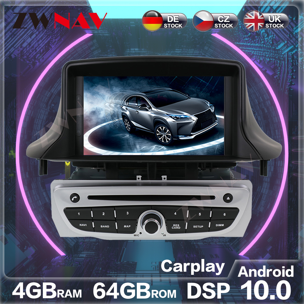Android 10.0 PX6 4G64G <font><b>GPS</b></font> For Renault <font><b>Megane</b></font> <font><b>3</b></font> Fluence 2009-2015 Auto Radio Stereo Multimedia Player Head Unit image