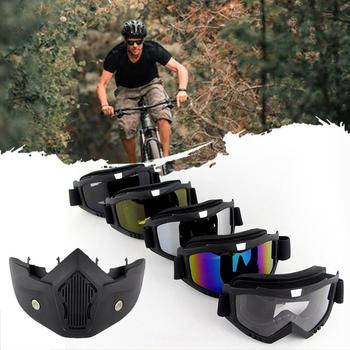 Motorbike Goggles Eye Protection Riding Eyewear Windproof Helmet Moto Goggles Outdoor Sport Glasses|Motorcycle Glasses|   -