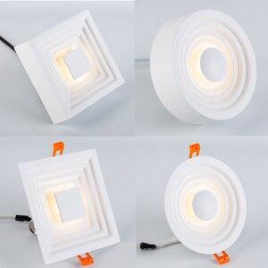 Image 1 - Zerouno Moderne Led Licht Lamp Speciale Techniek Verlichting Lamp 6W 12W Verzonken Dunne Hoge Lumen Home Tentoonstelling Mall verlichting