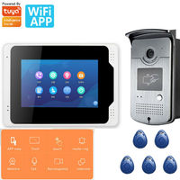 7inch Wireless Wifi RFID Video Door Phone Doorbell Intercom Entry System with Tuya APP remote control, 6 languages switching