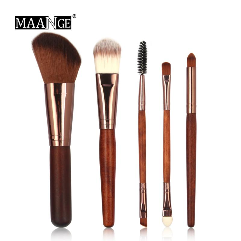 5pcs/lot Makeup Brushes Set For Foundation Powder Blush Eyeshadow Concealer Lip Eye Make Up Brush Cosmetics Beauty Tools TSLM1