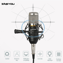 promotion original new isk bm 800 professional recording microphone condenser mic for studio and broadcasting without carry case 100% Original bm 800 Studio Microphone ZINGYOU Professional  Sound Recording Condenser Mic For Computer bm800 Microphone Kit