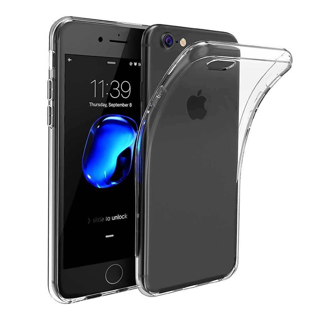 Transparan Shell untuk iPhone SE 2020 Penutup Ponsel Case untuk I Phone 7 8 6 6S Cover Coque 11 Pro max X Max X XR Silicone Case Capa