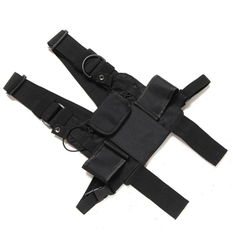 For Baofeng Radio Chest Bags Harness Front Pack Pouch Holster Vest Rig Carry Cade For Baofeng TYT Wouxun Motorola Walkie Talkie