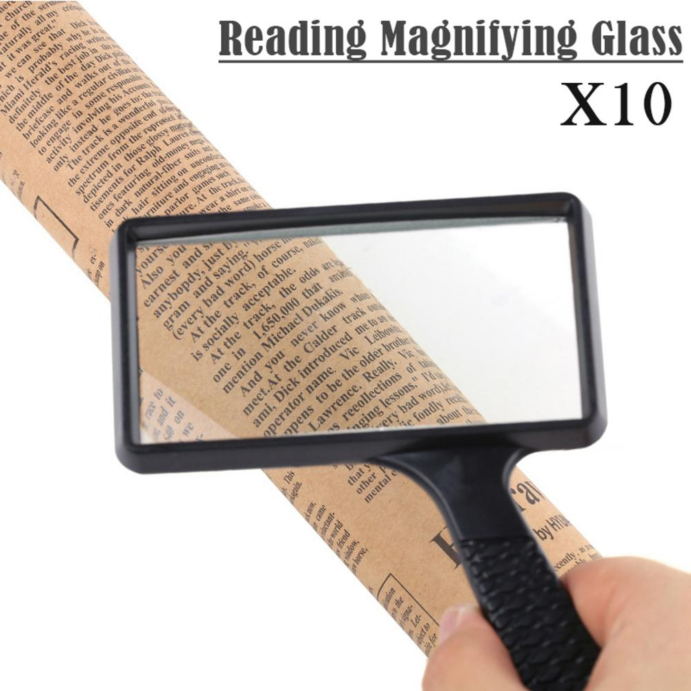 High Definition Mirror Suitable for Reading Newspapers Maps 2X 4X 25x Lightweight Handheld Glass Borderless with LED Lights KONGZIR Glass with Light Handheld Glass