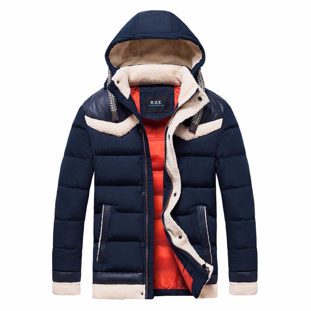男性 2019 冬の屋外フード暖かい厚手ジャケットパーカー男性 New 紳士服、カジュアル冒険 WaterBreaker パーカーコート男性