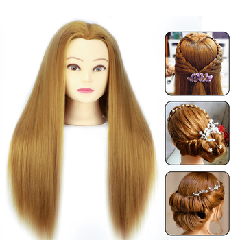 Head Dolls For Hairdressers 65cm Hair Synthetic Mannequin Hairstyles Female Hairdressing Styling Training