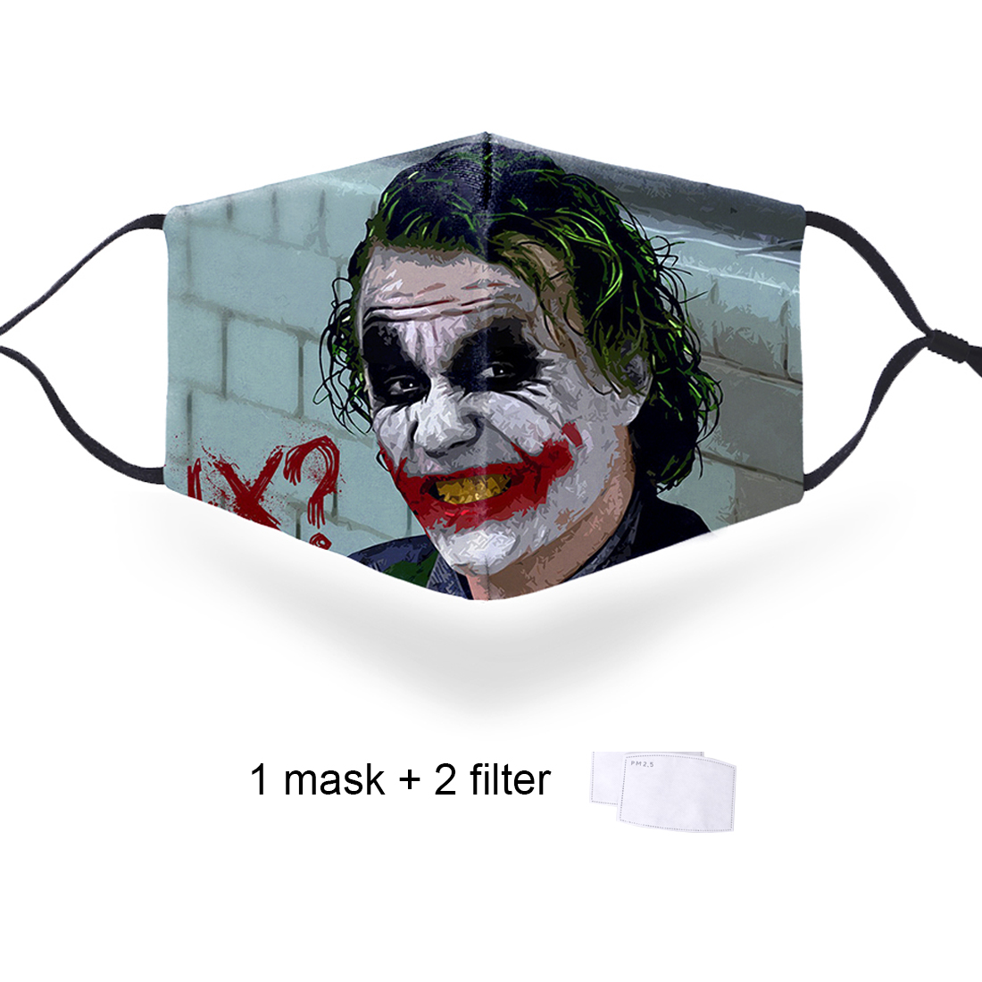 Clown Jokers Joker Cosplayer Protective PM2.5 Filter Masks Unisex Mouth-muffle Bacteria Proof Flu Masks High Quality Soft Masks