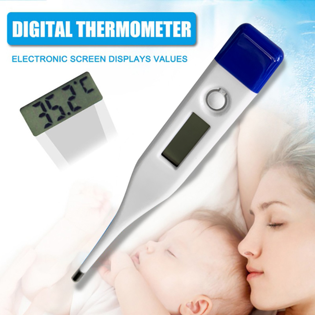 20# Soft Child Adult Body Digital LCD Thermometer Temperature Silica Gel Measurement Kitchen Accessories