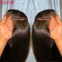 LEVITA – perruque brésilienne naturelle, cheveux lisses, 4x4, densité 150%, pour femmes, vente en gros
