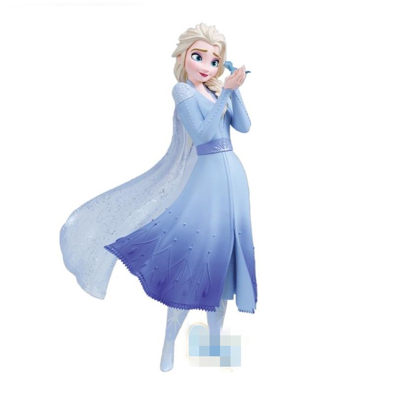 Frozen 2 Disney Elsa princesa adornos de escritorio Original muñeca GK colección de figuras de acción modelo juguete Regalo de Cumpleaños M4904 Juguetes locos 1:6 Linterna Verde variante PVC acción figura Parallax Hal Variable juguetes de modelos coleccionables Brinquedos