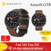 Global Version Amazfit GTR 47mm Smart Watch 5ATM Waterproof Smartwatch 24 Days Battery GPS Music Control for Android IOS global version huami amazfit gtr 42mm smart watch 5atm smartwatch 12days battery gps music control for xiaomi android ios
