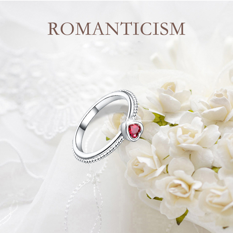 ruby zircon ring 925 silver jewelry for women 6