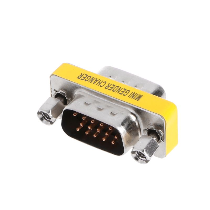 HOT New VGA HD15 Male To Male M/M Mini Gender Changer Converter Adapter