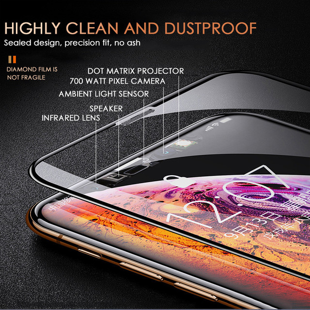 200D Full Cover Tempered Glass For iPhone 11 Pro X XR XS MAX glass iphone
