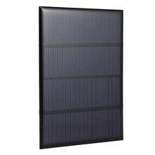 Панель солнечных батарей модуль для аккумулятора сотового телефона зарядное устройство DIY Модель: 115X85 мм 12 В 1,5 Вт