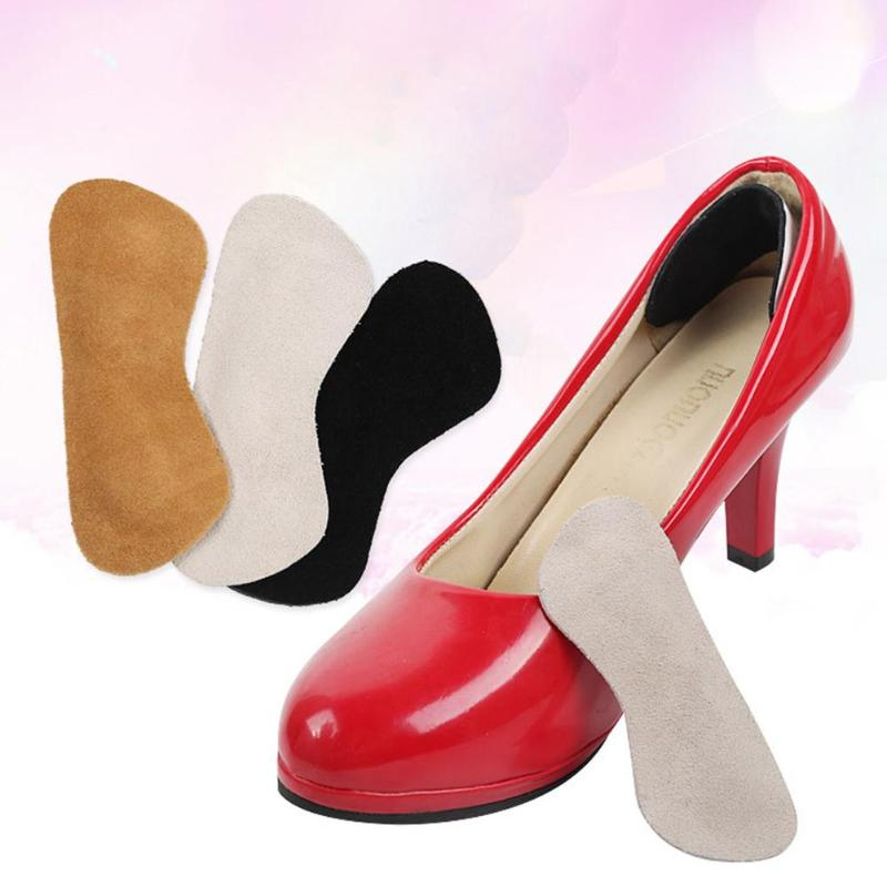 2pcs Non-Slip Heel Pad Shoes Inserts Foot Care Protector Heel Liner Grips Velvet Surface Foot Care Protector Tools