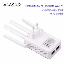 Wzmacniacz sygnału WiFi wzmacniacz 2.4GHz 300 mb/s 2 RJ45 porty o wysokiej mocy anteny wzmacniacz bezprzewodowy dostęp do internetu punkt dostępu daleki zasięg przedłużacz sieci