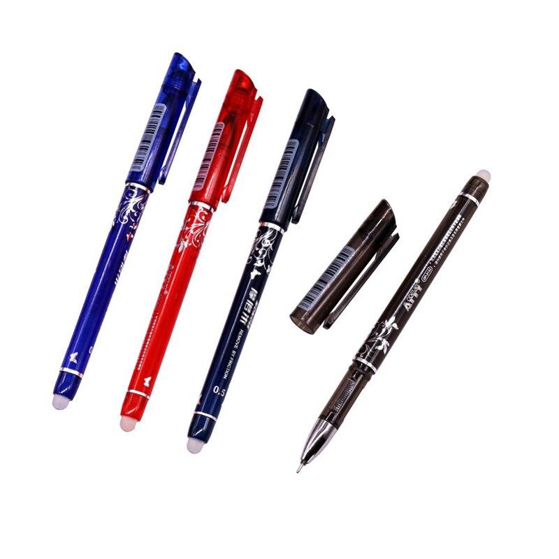 144 Pcs Magic Gel pen 0.5mm Four-color refill Erasable Pen Stationery Gift Pen Promotion Pen Length 150mm Student Office 2