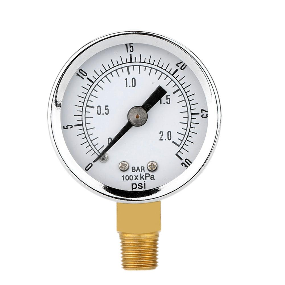0-30psi 0-2bar 40MM Diameters Pressure Gauge Fuel Air Compressor Meter Pressure Tester Manometer Pressure Measurer