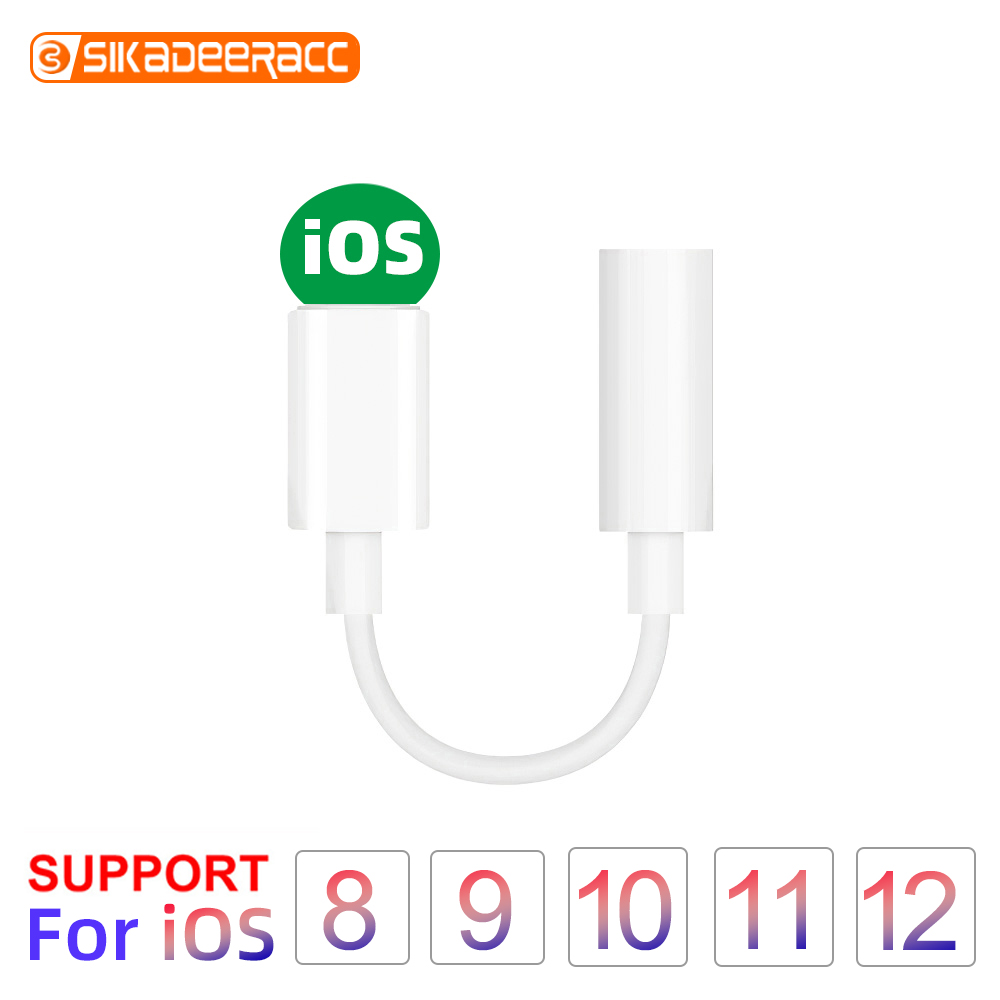Headphone <font><b>Adapter</b></font> For <font><b>iPhone</b></font> <font><b>7</b></font> 8 X XR 3.5mm Mobile Phone Headset AUX Audio For IOS Syetem Jack Cable Converter Earphone Splitter image