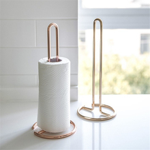 Kitchen Roll Paper Towel Holder Stainless Steel Bathroom Tissue Stand Rose Gold Napkins Rack Home Kitchen Standing Paper Holder