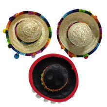 3pcs Mexican Hat Hair Hoops Mini Sombrero Headbands Festival Headdress Performance Props Party Favors(China)