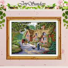 Life in Countryside Counted Cross Stitch 11 14CT Cross Stitch Sets landscape Cross Stitch Kits Embroidery Home Decor Needlework(China)