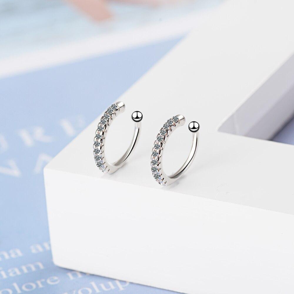 Todorova Simple Earcuff Tasteful Zircon Clip On Earrings for Women Small Ear Cuff Jewelry Girls pendientes mujer