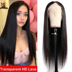Parrucca diritta del merletto dei capelli di Maxine per le donne parrucca trasparente del merletto della parte 13x1 T dei capelli umani di Remy di densità 150% per le donne nere