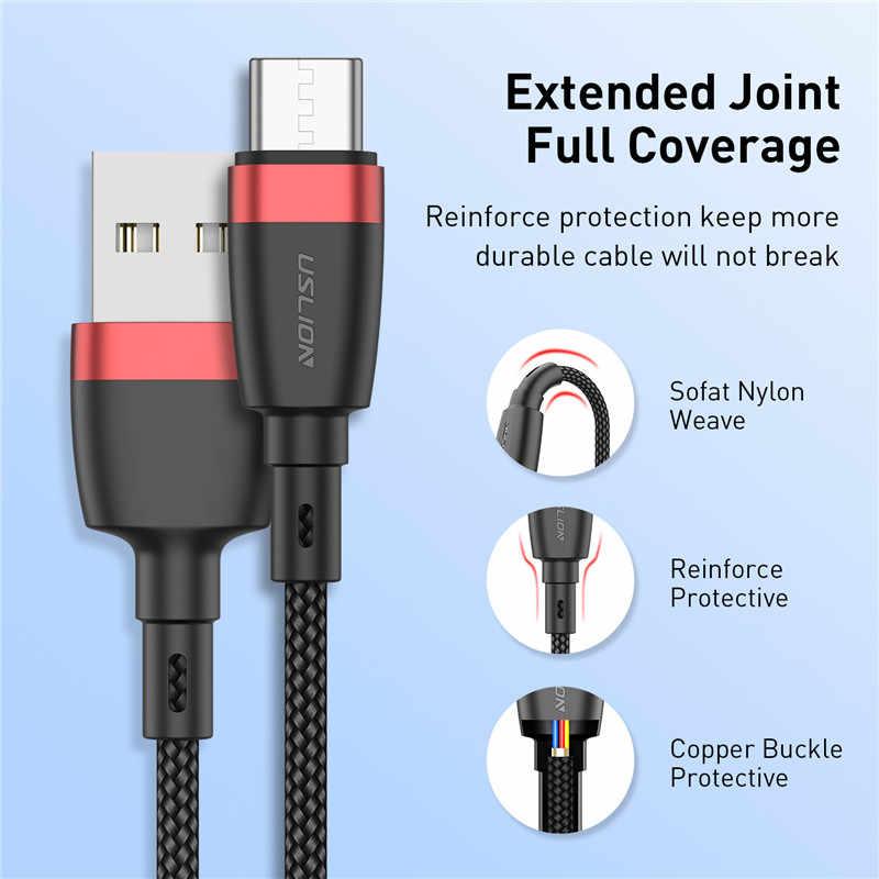USLION USB نوع C كابل لسامسونج غالاكسي A50 S10 S9 S8 هواوي P30 3.1 سريع شحن شاحن هواتف xiaomi Redmi ملاحظة 7 البيانات الحبل
