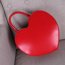 2018 Fashion One Shoulder Bag PU Sweet Classic Heart-shaped Soft Hand-held