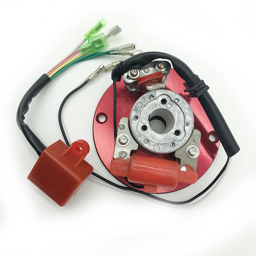 Racing Stator Magneto Racing Inner Rotor CDI Kit Red For 110 125 140cc Lifan YX Pit Dirt Bike Brand New image