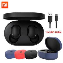 Orijinal Xiaomi Redmi Airdots 2 Xiaomi kablosuz kulaklık ses kontrolü Bluetooth 5.0 gürültü azaltma musluk kontrolü