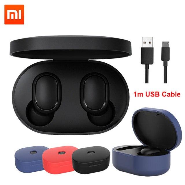 מקורי Xiaomi Redmi Airdots 2 Xiaomi אלחוטי אוזניות קול בקרת Bluetooth 5.0 רעש הפחתת שליטה ברז