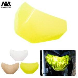 For Yamaha MT09 FZ09 MT 09 FZ-09 2013-2016 2015 2014 Motorcycle Headlight Shield Front Lamp Screen Protector(China)