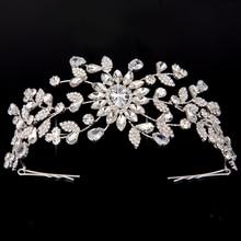 Корона и тиары хадиана новый стиль креативные формы цветов дизайн для женщин Свадебная заколка для волос с фианитами BC4414