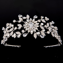 Crown And Tiaras HADIYANA New Style Creative Flower Shapes Design For Women Wedding Hair Clip Cubic Zirconia BC4414 Sombreros
