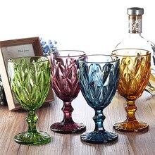 Kolor kubki kieliszki czy szampana koktajl szkło whisky kubki kryształowe rzeźby sok szklany kielich lampka czy wina 4 sztuk/zesta