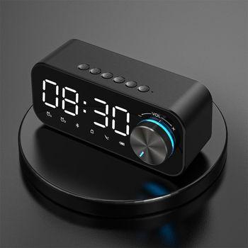 Lustro budzik głośnik LED na Bluetooth cyfrowy wyświetlacz Radio z alarmem Radio z budzikiem bezprzewodowy Subwoofer odtwarzacz muzyczny zegar tanie i dobre opinie centechia Połączenie Baterii Z tworzywa sztucznego Pełny zakres CN (pochodzenie) 25 W NONE 2-10 Inne