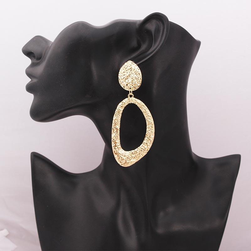 2020 Vintage Earrings Large Statement Earrings Geometric Gold Metal Drop Earrings for Women Trend Fashion Jewelry Brincos