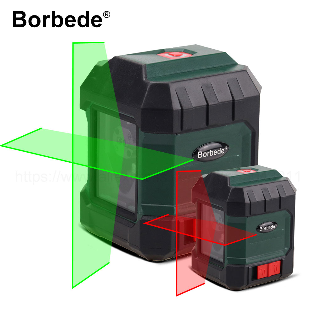 [NEW] Boebede Laser Level Red/Green Beam Self-Leveling Horizontal and Vertical Cross Line Portable Mini Level Meter