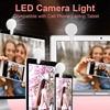 Nowy Mini klip na Selfie lampa pierścieniowa LED do telefonu komórkowego kamerka do laptopa zdjęcie wideo do wszystkich smartfonów USB Charge LED Photography