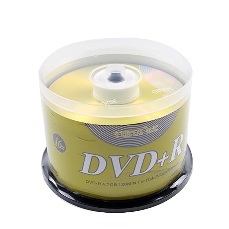 50 шт. DVD диски пустой DVD + R CD диск 4,7 ГБ 16X Bluray запись после хранения данных Пустые DVD диски записываемые медиа компактные