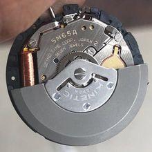 Assista acessórios original japonês movimento de energia cinética artificial 5m65a único calendário movimento com bateria
