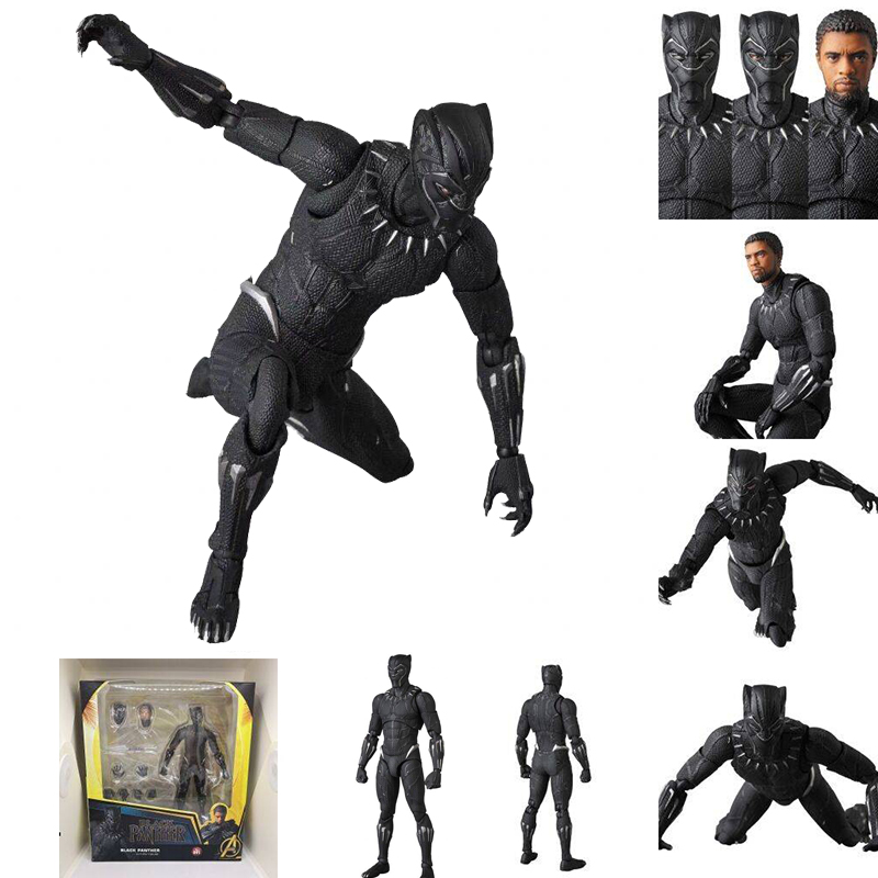 Avengers Endgame 4 Infinity War Mafex Black Panther 091 Action Figure Model Toy Brinquedos Gift
