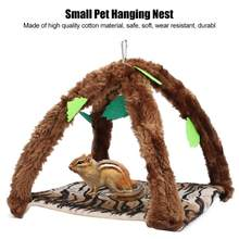 Pet Birds Hamster Hanging House Hanging Hammock Nap Sack Swing Bag Sleeping Bed for Ferret Rat Sugar Glider For Small Pet(China)