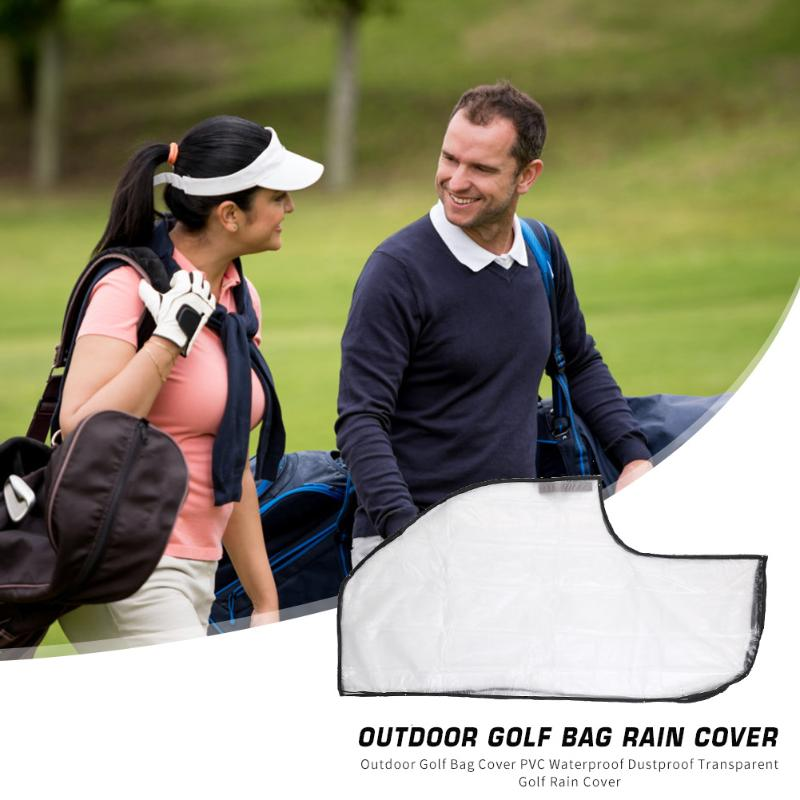 Outdoor Golf Bag Cover PVC Waterproof Dustproof Rainproof Transparent Golf Club Ball Bag Rain Cover Protector